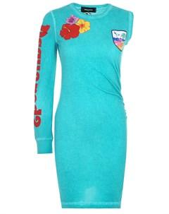 Хлопковое платье Dsquared2