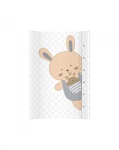 Пеленальная доска Забавный кролик 70х47 см Alberomio