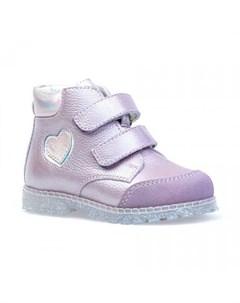 Ботинки для девочки с сердечком Котофей