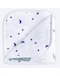 Одеяло двустороннее муслиновое утепленное Крокодилы Звезды 100х75 см Mjolk