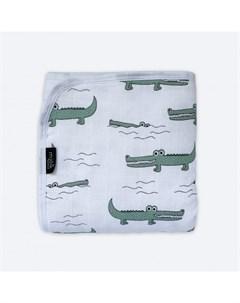 Одеяло Муслиновое утеплённое Крокодилы 75х100 Mjolk