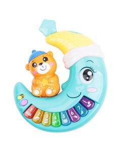 Развивающая игрушка Музыкальное пианино голубой Игруша
