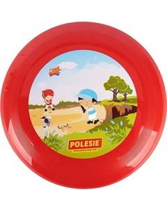 Летающая тарелка красная d 27 см Полесье