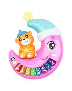 Развивающая игрушка Музыкальное пианино розовое Игруша