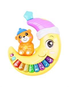 Развивающая игрушка Музыкальное пианино желтое Игруша