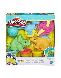 Набор для лепки из пластилина Малыши Динозаврики синий Play-doh