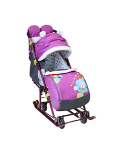 Санки коляска Ника детям 7 6 Коллаж снеговик Nika-kids