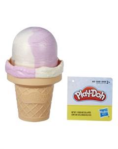 Набор для лепки из пластилина Мороженое фиолетово белое Play-doh