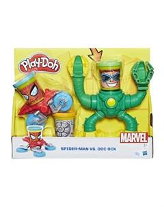Набор для лепки из пластилина Человек паук синий Play-doh