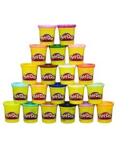 Набор для лепки из пластилина 20 баночек желтый Play-doh