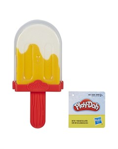 Набор для лепки из пластилина Мороженое бело оранжевое Play-doh