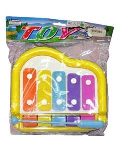 Ксилофон 5 тонов Наша игрушка