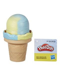 Набор для лепки из пластилина Мороженое желто голубое Play-doh