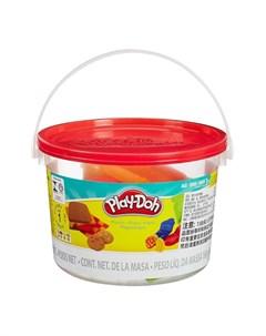 Набор для лепки из пластилина Ведёрочко красная коричневый Play-doh