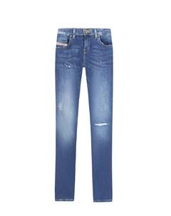 Голубые джинсы с разрезами детские Diesel