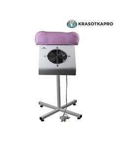 Пылесос для педикюра с подставкой розовый 65W Krasotkapro