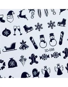 3D слайдер 98 черный Зима Новый год Anna tkacheva