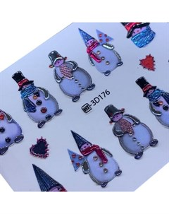 3D слайдер Crystal HT 176 Снеговики Новый год Anna tkacheva