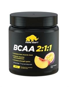 Аминокислоты BCAA 2 1 1 Персик и маракуйя 150 г Prime kraft