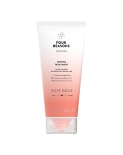 Маска для волос Toning Treatment Roze Gold 200 мл Four reasons