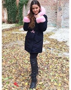 Парка цвет синий светло розовый Mililook