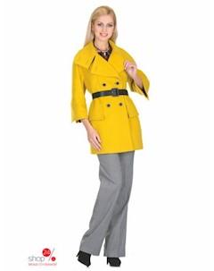 Пальто цвет желтый Синар