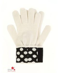 Перчатки цвет черный белый Guess