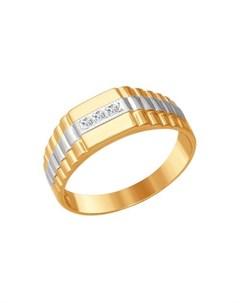 Перстень с фианитом Sokolov