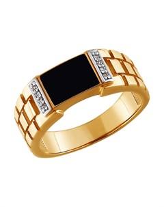 Кольцо из золота с эмалью и фианитами Sokolov