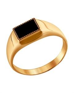 Кольцо из золота с ониксом Sokolov