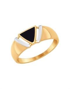 Кольцо из золота с эмалью Sokolov