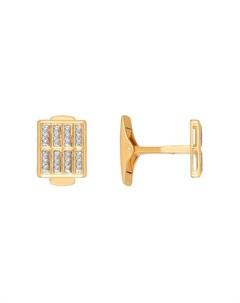Запонки золотые для рубашки Sokolov