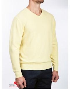 Пуловер цвет жёлтый Greg horman