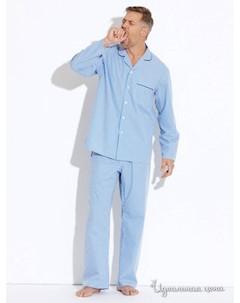 Пижама цвет голубой белый Savile row