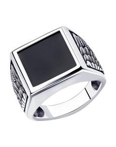 Кольцо из серебра с наношпинелью Sokolov