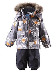 Зимний прогулочный комплект для малышей брюки на подтяжках Lassie