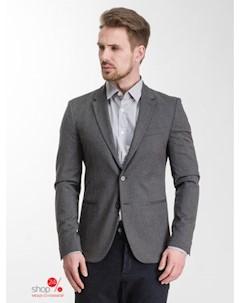 Пиджак цвет серый
