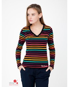 Лонгслив цвет разноцветный полоска Little marcel