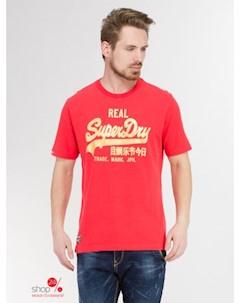 Футболка цвет красный Superdry