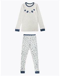 Термобелье с принтом панда для девочки Marks & spencer
