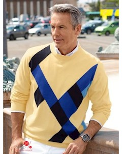 Пуловер Babista цвет желтый синий Klingel