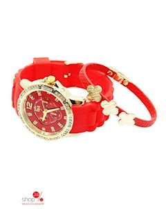 Браслет часы цвет золотой красный Taya