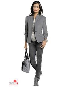 Узкие джинсы Alba Moda цвет темно серый принт Klingel