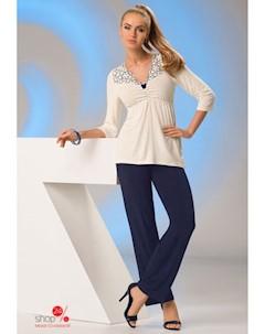 Пижама цвет темно синий белый Donna