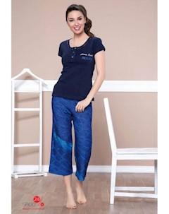 Пижама цвет синий темно синий Moyra