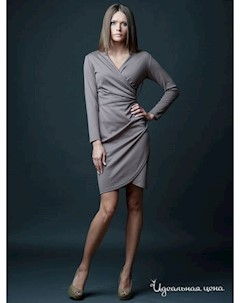 Платье цвет бежевый Vera fashion
