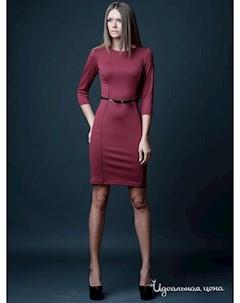 Платье цвет бордовый Vera fashion