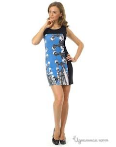 Платье цвет черный синий Rob-art by katya rozhdestvenskaya
