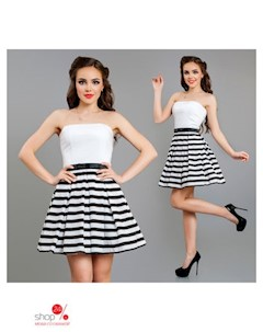 Платье цвет черный белый Charm