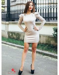 Платье цвет бежевый Charm